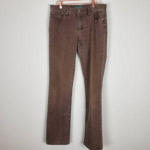 Ralph Lauren Brown Denim Pants